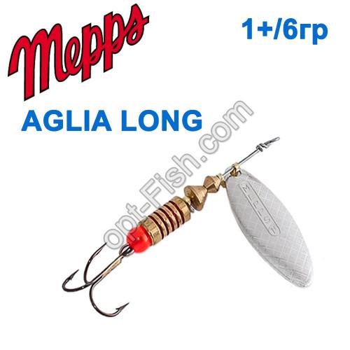 Aglia long srebrna-silver 1+/6g