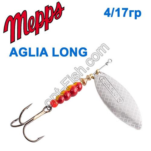 Aglia long srebrna-silver 4/17g