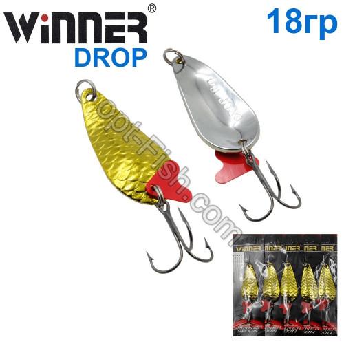 Блесна Winner колебалка W-020 DROP 18g 002# (5шт) *