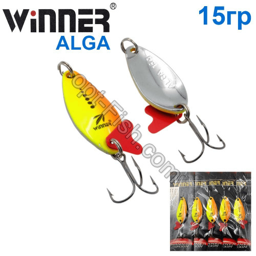 Блесна Winner колебалка W-031 ALGA 15g 018# (5шт) *
