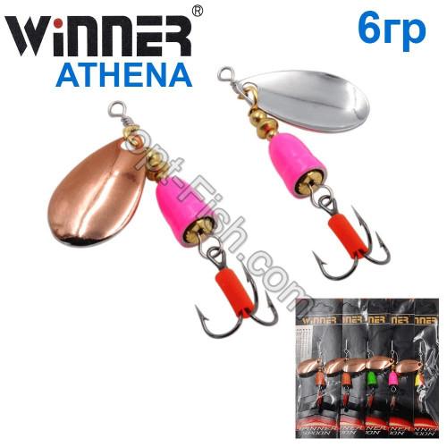 Блешня Winner вертушка WP-003 ATHENA 6g 003# (5шт) *