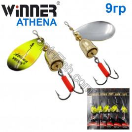 Блесна Winner вертушка WP-003 ATHENA 9g 022# (5шт) *