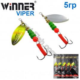 Блесна Winner вертушка WP-016 VIPER 5g 022# (5шт) *
