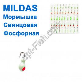 Мормышка Mildas свинцовая набор фосфорная (50шт)