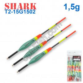 Поплавок Shark Тополь T2-15G1502 (20шт)