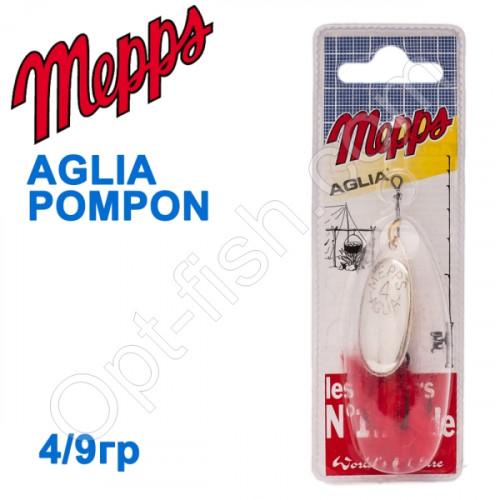 Блесна  Mepps AGLIA POMPON srebrna silver 4/9g