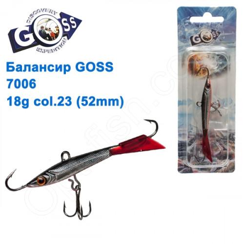 Балансир Goss 7006 18g col. 23 (52mm)