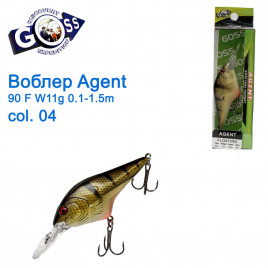 Воблер Goss Agent 90F W11g Floating 0,1-1,5g col. 04