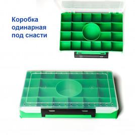 Коробка одинарная под снасти с кругом внутри под кормушку