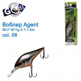 Воблер Goss Agent 90F W11g Floating 0,1-1,5g col. 08